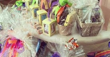 Easter baskets by Kourtney Kardashian for the kids