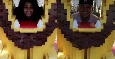 Rob Kardashian and Blac Chyna Celebrate his Birthday at legoland