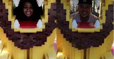 Rob Kardashian and Blac Chyna Celebrate his Birthday at legoland