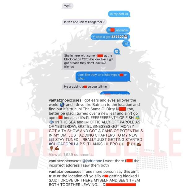 Black Ink Crew Chicago's Jenn Caught Cheating on Van Johnson
