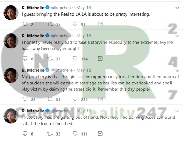 K Michelle READS LHH Hollywood For Fake Story Lines