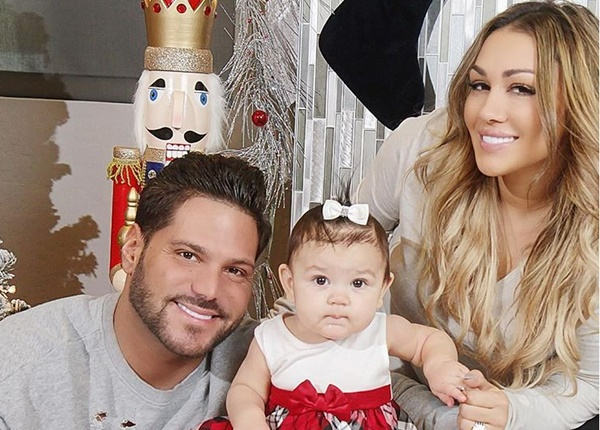 Ronnie Magro + Jen Harley Family Christmas Card