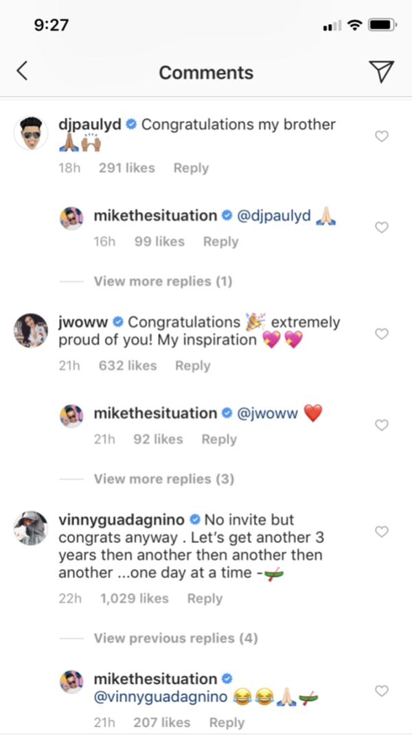 "Mike ""The Situation"" Sorrentino Celebrated 3 Years Sober"