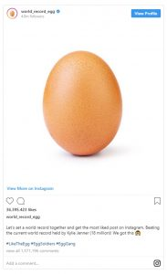 Egg More Popular Than Kylie Jenner