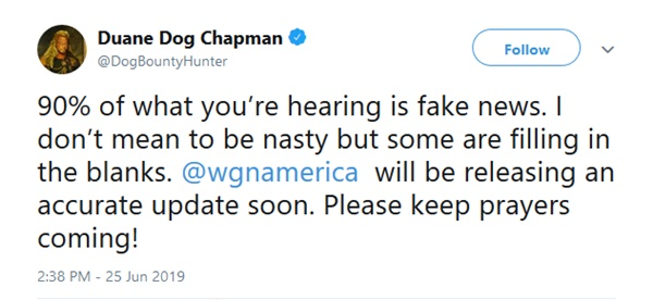 'Dog the Bounty Hunter' Duane Chapman Says Accurate Update on Beth Coming Soon